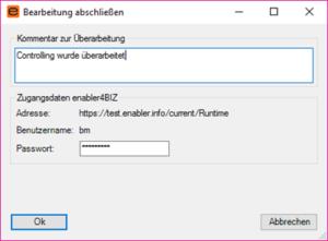 Screenshot Bearbeitung im Plugin4BIZ abschließen